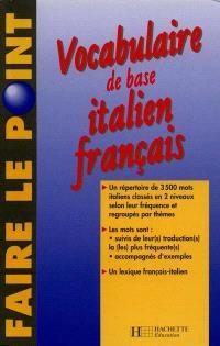 Vocabulaire de base italien-français