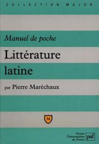 Littérature latine : manuel de poche