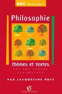 Philosophie, série L : thèmes et documents