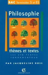 Philosophie, séries ES et S : thèmes et documents