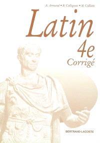 Latin 4e : livre du professeur