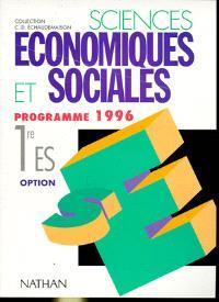 Sciences économiques et sociales, 1re ES option science politique : programme 1996