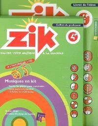 Zik, 4e : coffret du professeur