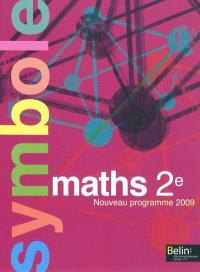 Maths 2e : nouveau programme 2009