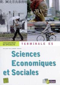 Sciences économiques et sociales, terminale ES enseignement de spécialité