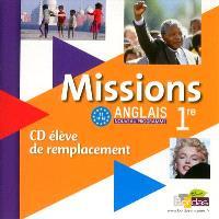 Missions anglais 1re : CD audio élève de remplacement