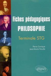 Philosophie terminale STG : fiches pédagogiques