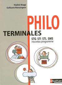 Philo terminales STG STI STL SMS : nouveau programme