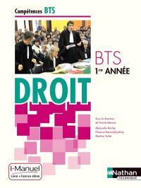Droit BTS 1re année : i-manuel, livre + licence élève