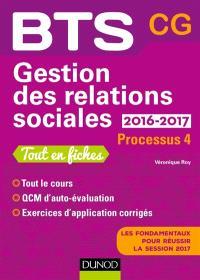 Gestion des relations sociales, BTS CG, 2016-2017 : processus 4 : tout en fiches