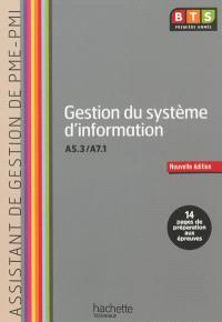 Gestion du système d'information, A5.3-A7.1, BTS première année assistant de gestion de PME-PMI