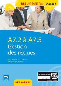 Gestion des risques : A7.2 à A7.5, BTS AG PME-PMI 2e année