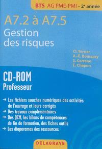 Gestion des risques : A7.2 à A7.5, BTS AG PME-PMI, 2e année : CD-ROM professeur