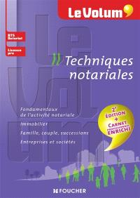 Techniques notariales : BTS notariat, licence pro