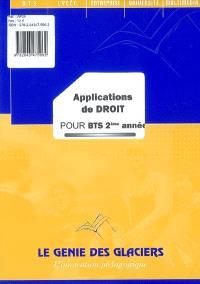 Applications de droit pour BTS 2e année : pochette de l' élève