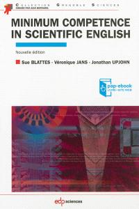 Minimum competence in scientific English
