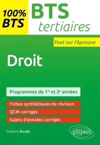 Droit : BTS tertiaires : programmes de 1re et 2e années
