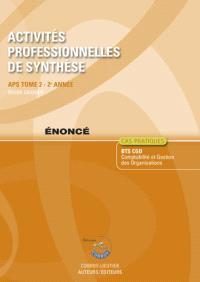 Activités professionnelles de synthèse. Volume 2, APS du BTS CGO 2e année : énoncé