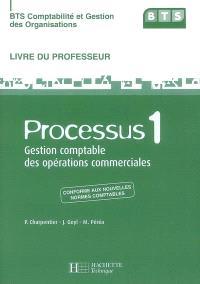 BTS comptabilité et gestion des organisations : processus 1, gestion comptable des opérations commerciales : livre du professeur
