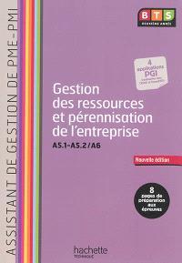 Gestion des ressources et pérennisation de l'entreprise, A5.1-A5.2, A6 : assistant de gestion de PME-PMI, BTS deuxième année