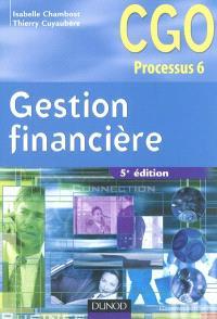 Gestion financière : processus 6, gestion de la trésorerie et du financement
