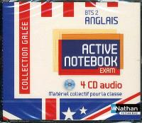 Active notebook exam : anglais, BTS 2e année : 4 CD audio