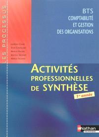Activités professionnelles de synthèse, BTS CGO 1re année : livret détachable de l'élève
