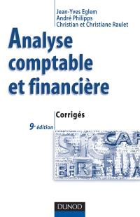 Analyse comptable et financière : corrigés