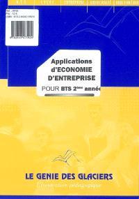 Applications d'économie d'entreprise pour BTS 2e année : pochette de l'élève