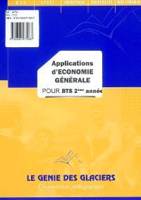 Applications d'économie générale pour BTS 2e année : la pochette de l'élève
