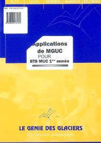 Applications de MGUC pour BTS MUC 1ère année