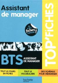 Assistant de manager, BTS assistant de manager