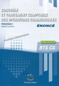 Contrôle et traitement comptable des opérations commerciales, énoncé : processus 1 du BTS CG