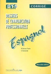 Dossiers de communication professionnelle, espagnol : corrigé