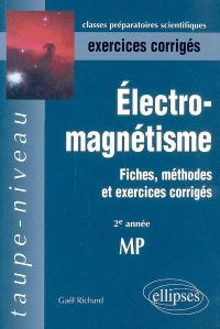 Electromagnétisme : fiches, méthodes et exercices corrigés : 2e année MP