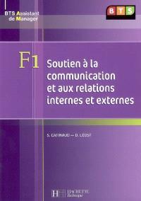 F1 soutien à la communication et aux relations internes et externes : BTS assistant de manager