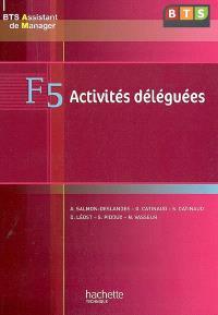 F5 activités déléguées, BTS assistant de manager