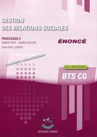 Gestion des relations sociales, énoncé : processus 4 du BTS CG