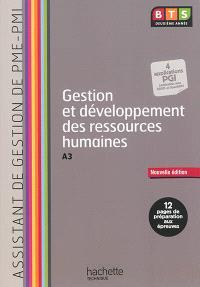 Gestion et développement des ressources humaines, A3 : assistant de gestion de PME-PMI, BTS deuxième année