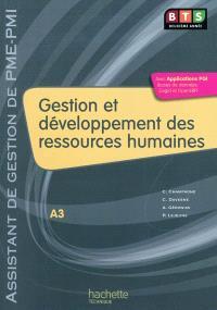 Gestion et développement des ressources humaines, BTS assistant de gestion de PME-PMI 2e année, A-3 : livre de l'élève
