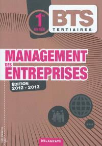 Management des entreprises, BTS tertiaires 1re année