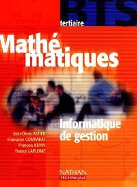 Mathématiques, BTS tertiaire : informatique de gestion : livre de l'élève