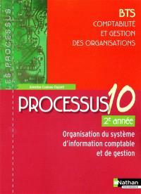 Processus 10, organisation du système d'information comptable et de gestion, BTS CGO comptabilité et gestion des organisations, 2e année