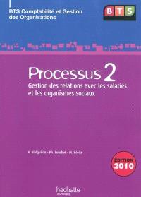 Processus 2 : gestion des relations avec les salariés et les organismes sociaux