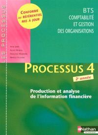 Processus 4, production et analyse de l'information financière : BTS CGO comptabilité et gestion : livre détachable de l'élève
