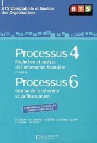 Processus 4, production et analyse de l'information financière (2e partie), Processus 6, gestion de la trésorerie et du financement : BTS comptabilité et gestion des organisations : livre de l'élève