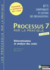 Processus 7 par la pratique, détermination et analyse des coûts : livre de l'élève