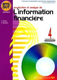 Production et analyse de l'information financière : processus 4, BTS DUT comptables