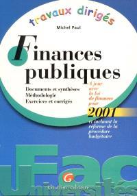 Travaux dirigés de finances publiques