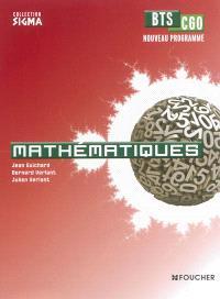 Mathématiques, BTS CGO : nouveau programme